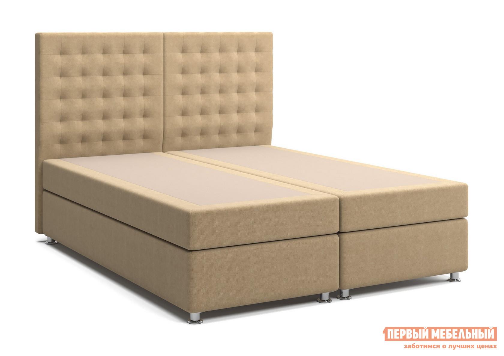 Двуспальная кровать с матрасом СтолЛайн Парадиз 1 (матрасы с независимым пружинным блоком, 2 шт.)