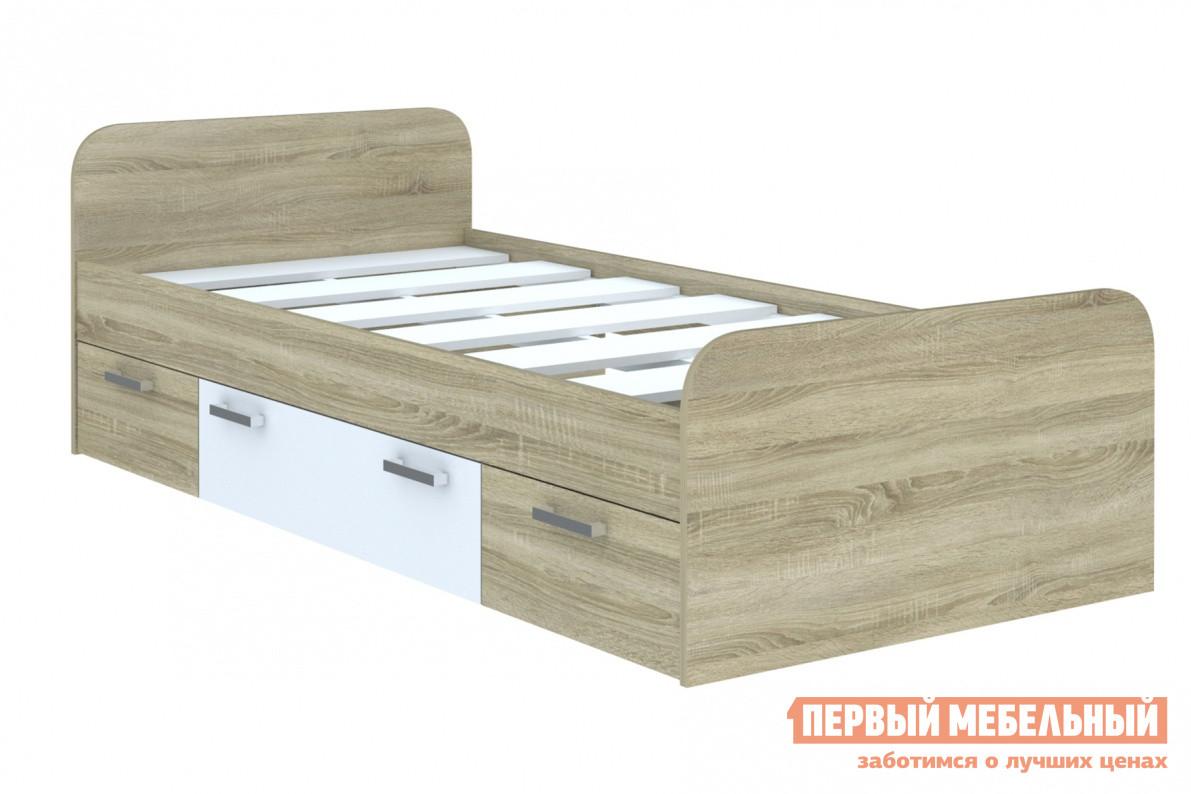 Детская кровать СтолЛайн СТЛ.165.06 Корпус Дуб сонома / Фасад Белый