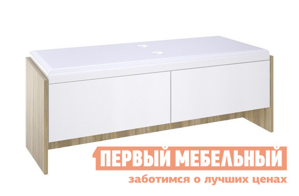 Банкетка СтолЛайн СТЛ.143.04 Дуб Сонома / Белый глянец