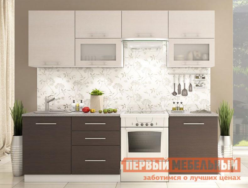 Готовая кухня СтолЛайн СТЛ.051.02 Корпус белый / Фасад венге, дуб беленый от Купистол