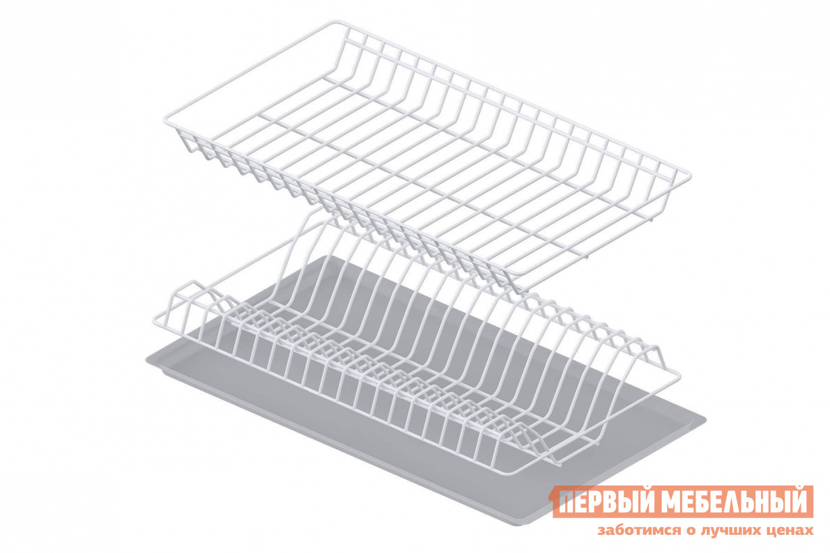 Сушилка для посуды СтолЛайн Сушка с поддоном 600 мм сушилка д посуды мечта хозяйки 3 48 5х30х9см с поддоном плас