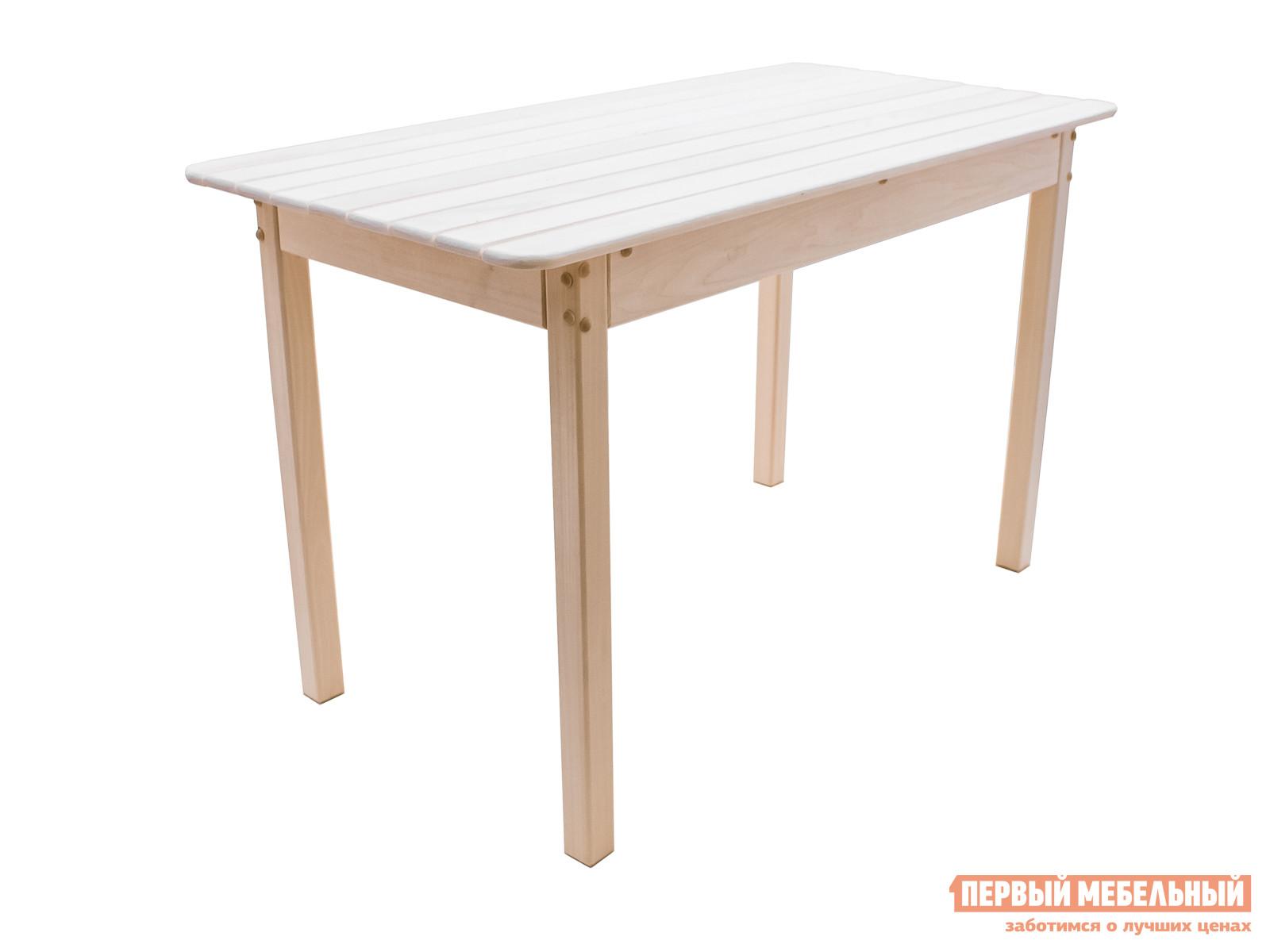 Садовый стол ММ Олаф Липа, Ширина 1000 ммСадовые столы<br>Габаритные размеры ВхШхГ 720x1000 / 1200x600 мм. Лаконичный деревянный обеденный стол из массива липы наполнит ваш дачный домик, летнюю кухню, беседку или комнату отдыха при бане уютом, древесным теплом и ароматом.  Компактные размеры стола идеальны для небольшого помещения.  Ножки стола соединены дополнительной планкой, которая обеспечивает столам устойчивость. Стол доставляется в собранном виде, весит 12 кг.  Вдвоем его легко можно перенести из комнаты в комнату или вынести на улицу. При изготовлении стола, древесный материал не обрабатывается химическими средствами, во избежание выделения вредных испарений при высоких температурах, например, в бане или под ярким солнцем.  Если вы решите вынести стол в сад, чтобы устроить обед на свежем воздухе, то рекомендуется обработать стол влагостойким средством, которое защитит изделие от воздействия природной влажности и продлит срок его службы.<br><br>Цвет: Светлое дерево<br>Высота мм: 720<br>Ширина мм: 1000 / 1200<br>Глубина мм: 600<br>Кол-во упаковок: 1<br>Форма поставки: В собранном виде<br>Срок гарантии: 3 месяца<br>Тип: Обеденные<br>Материал: Массив дерева<br>Порода дерева: Липа<br>Форма: Прямоугольные<br>Размер: Маленькие