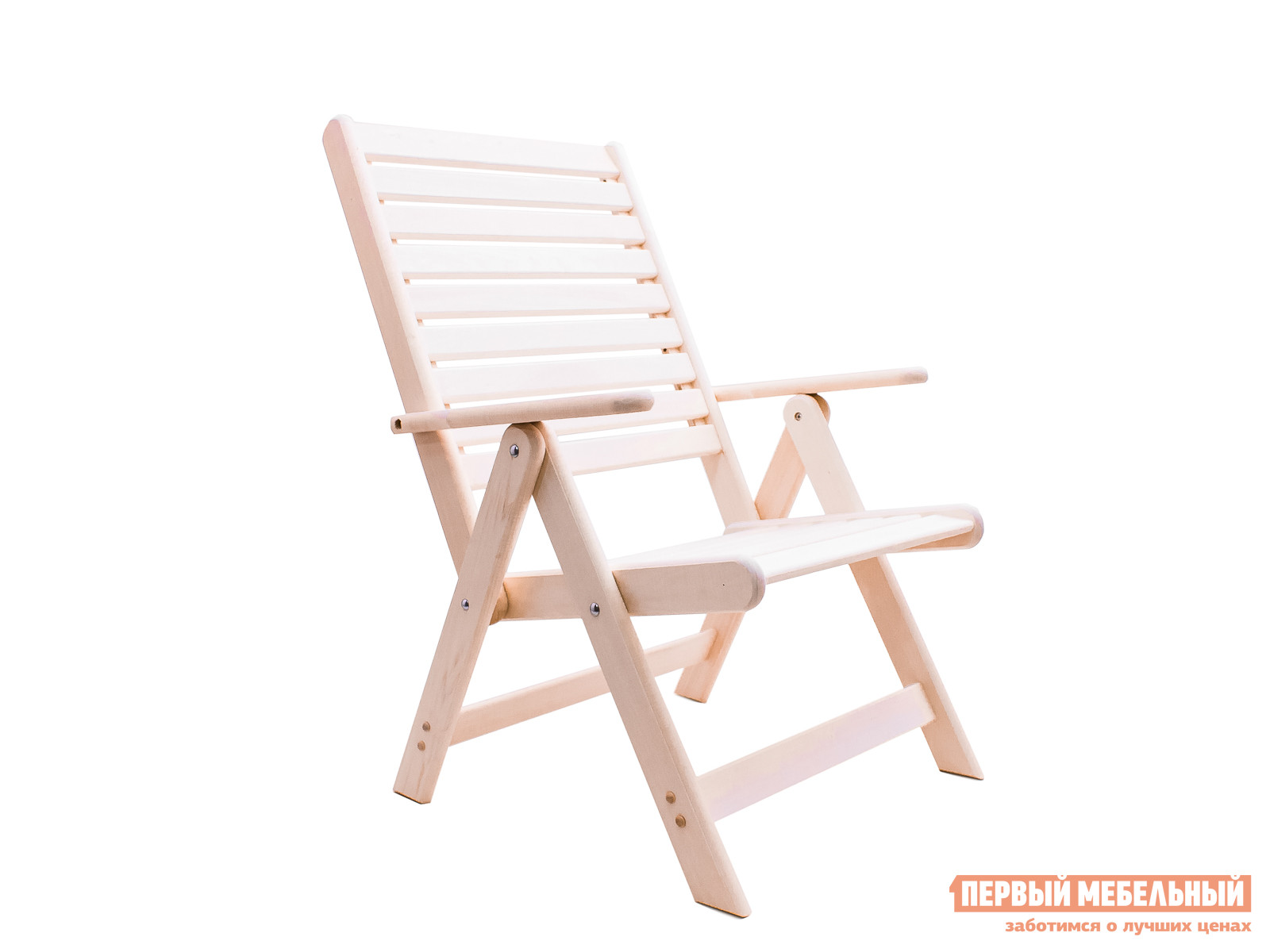 Деревянное садовое раскладное кресло с подлокотниками МариМебель Ганро