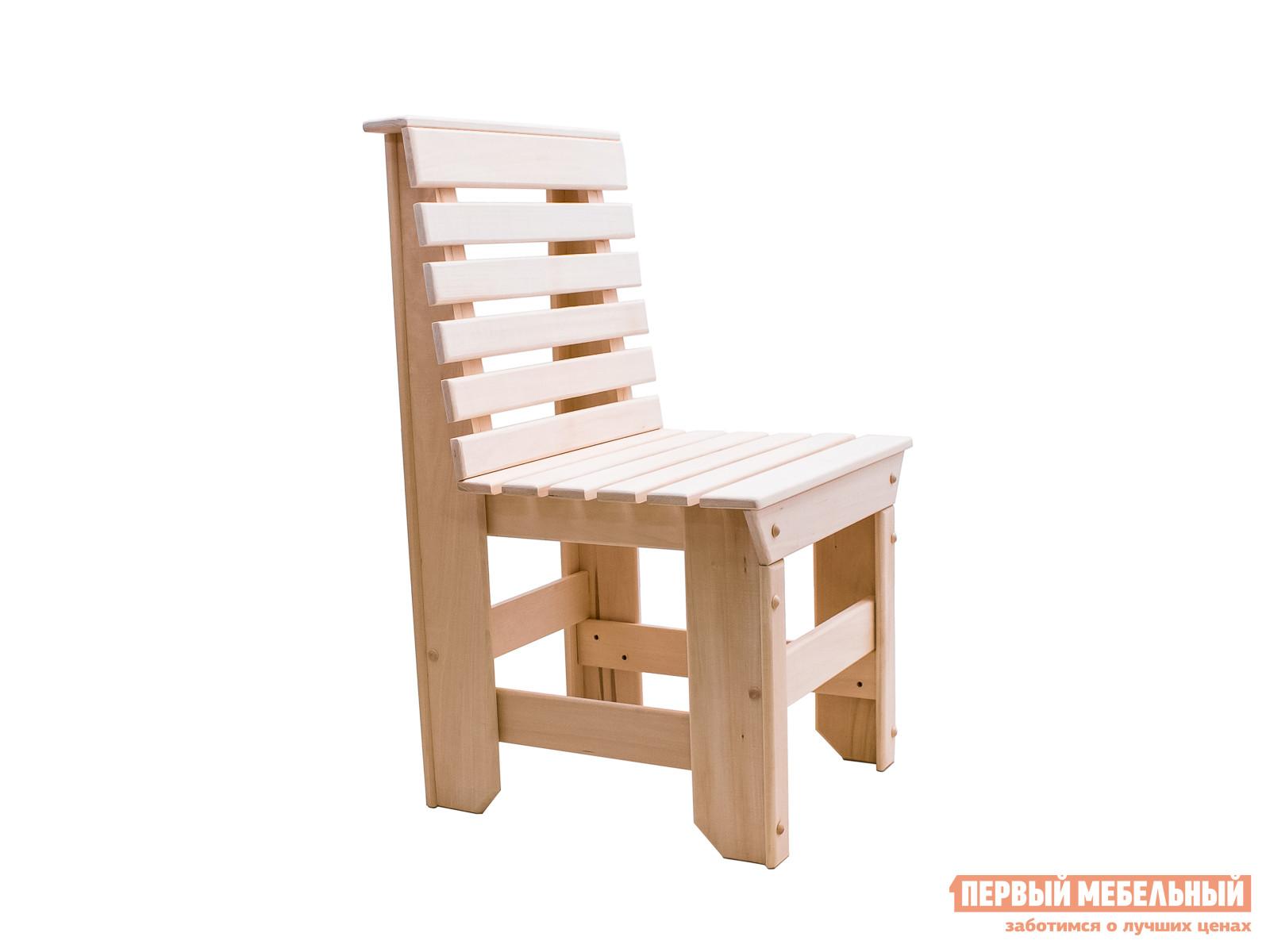 Садовое кресло ММ Тальдо ЛипаСадовые стулья и кресла<br>Габаритные размеры ВхШхГ 870x500x500 мм. Деревянный стул в лаконичном дизайне понравится любителям кантри или деревенского стиля в оформлении интерьера.  Спинка и сиденье сделаны из аккуратных, тщательно обработанных реек.  Тепло липовой древесины, из которой сделан стул, и ее приятный аромат будут оказывать самое благоприятное влияние на сидящего.  В дачном домике, на летней кухне, в беседке, в саду или в предбаннике несколько таких стульев вокруг, например, круглого стола наполнят окружающую обстановку уютными штрихами. Ножки стула соединены дополнительными планками, которые обеспечивают надежную устойчивость изделию.  Стул доставляется в уже собранном виде и весит всего 7 кг.  Вы легко сможете его перенести из домика на террасу или на улицу. Древесный материал при изготовлении стула не обрабатывается химическими веществами, что исключает выделение вредных испарений от мебельного изделия под влиянием высоких температур.  Для использования стула на открытом воздухе, изделие рекомендуется покрывать влагостойкими средствами.<br><br>Цвет: Светлое дерево<br>Высота мм: 870<br>Ширина мм: 500<br>Глубина мм: 500<br>Кол-во упаковок: 1<br>Форма поставки: В собранном виде<br>Срок гарантии: 3 месяца<br>Материал: Массив дерева<br>Порода дерева: Липа<br>С жестким сиденьем: Да<br>Без подлокотников: Да