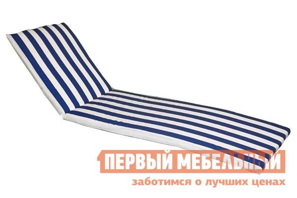 Матрас для шезлонга ЛетоЛюкс Бриз для лежака Белый / Синий