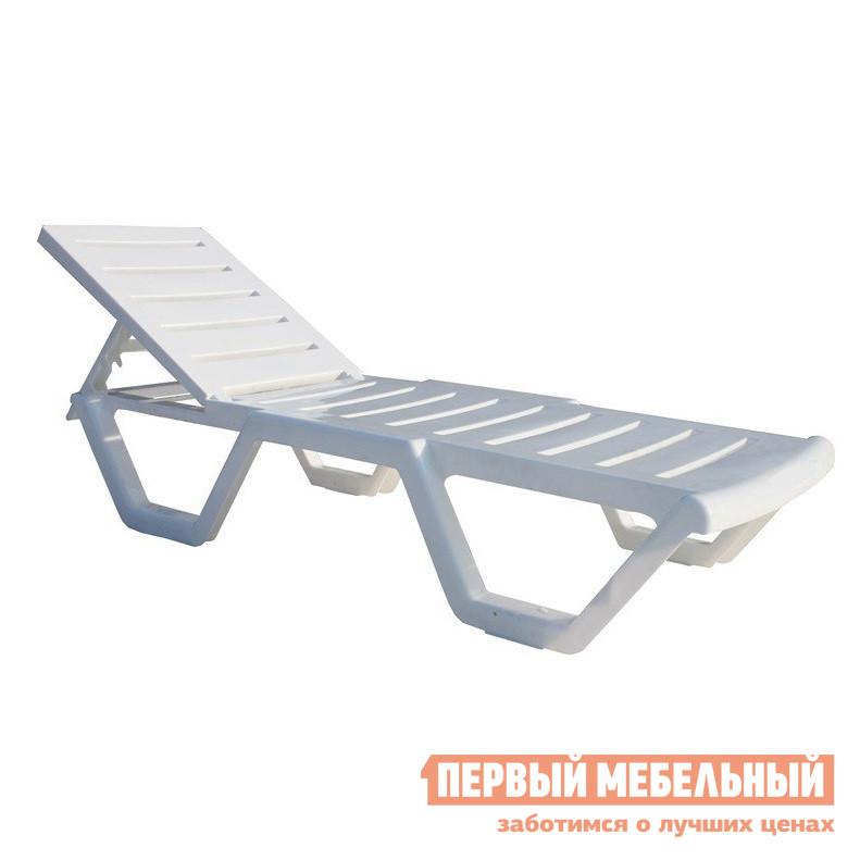 Шезлонг ЛетоЛюкс Шезлонг белый шезлонг раскладной дуэт