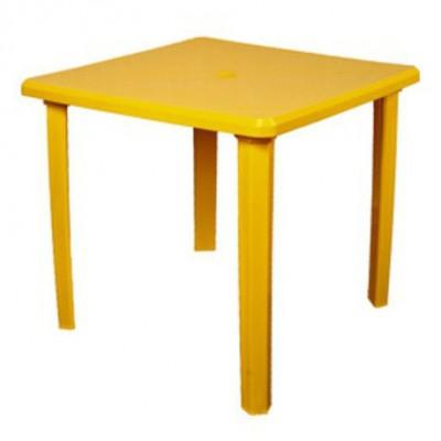 Пластиковый стол ЛетоЛюкс Стол квадратный  80*80 Желтый