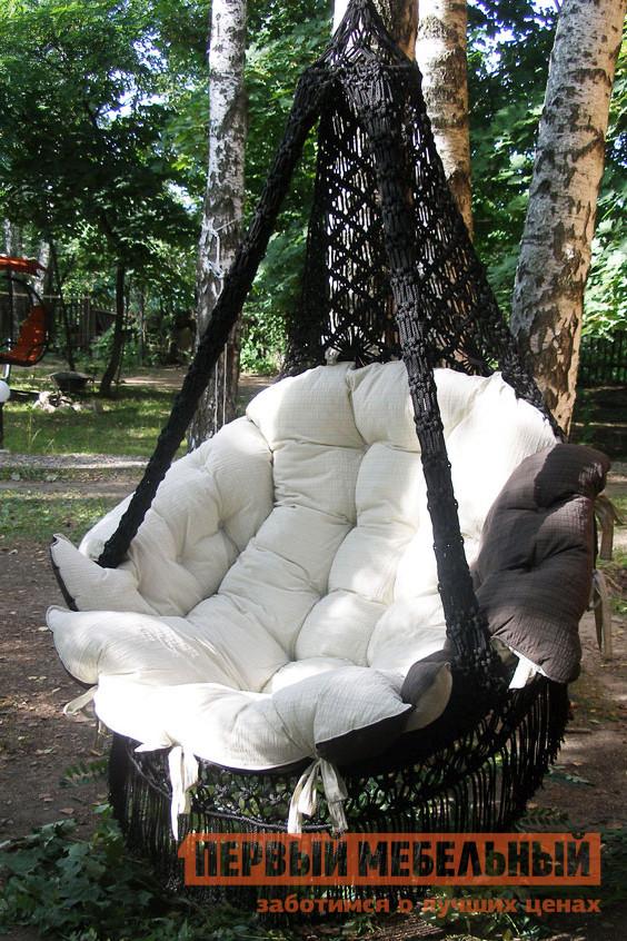 Подвесное кресло  CARTAGENA  Коричневый, Бежевая подушка, Без каркаса