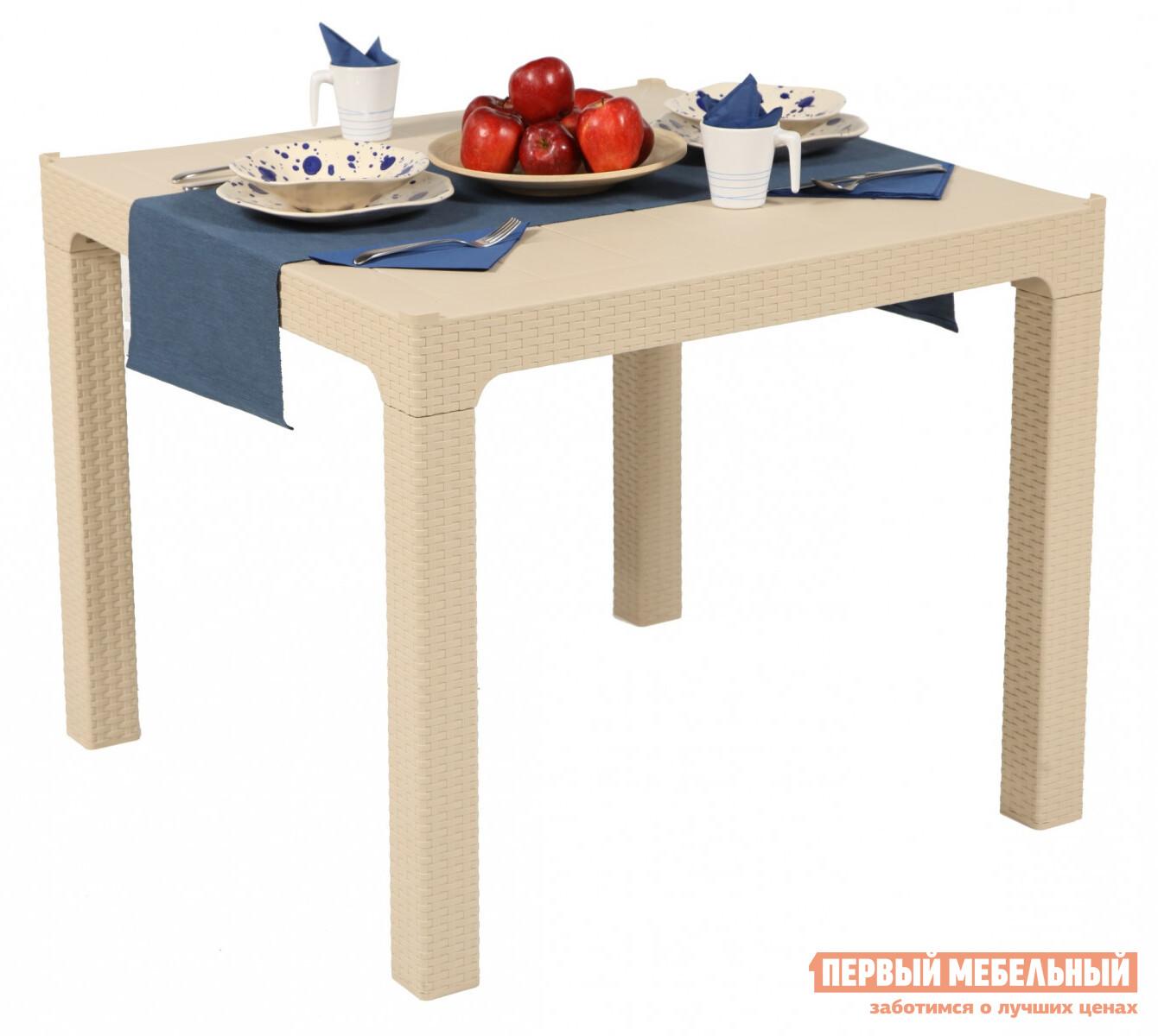 Садовый стол Рихаус Стол пластиковый Arizona без стекла DEL/AR-R/90x90/F пластиковый стул рихаус net 4032656000 4032675000