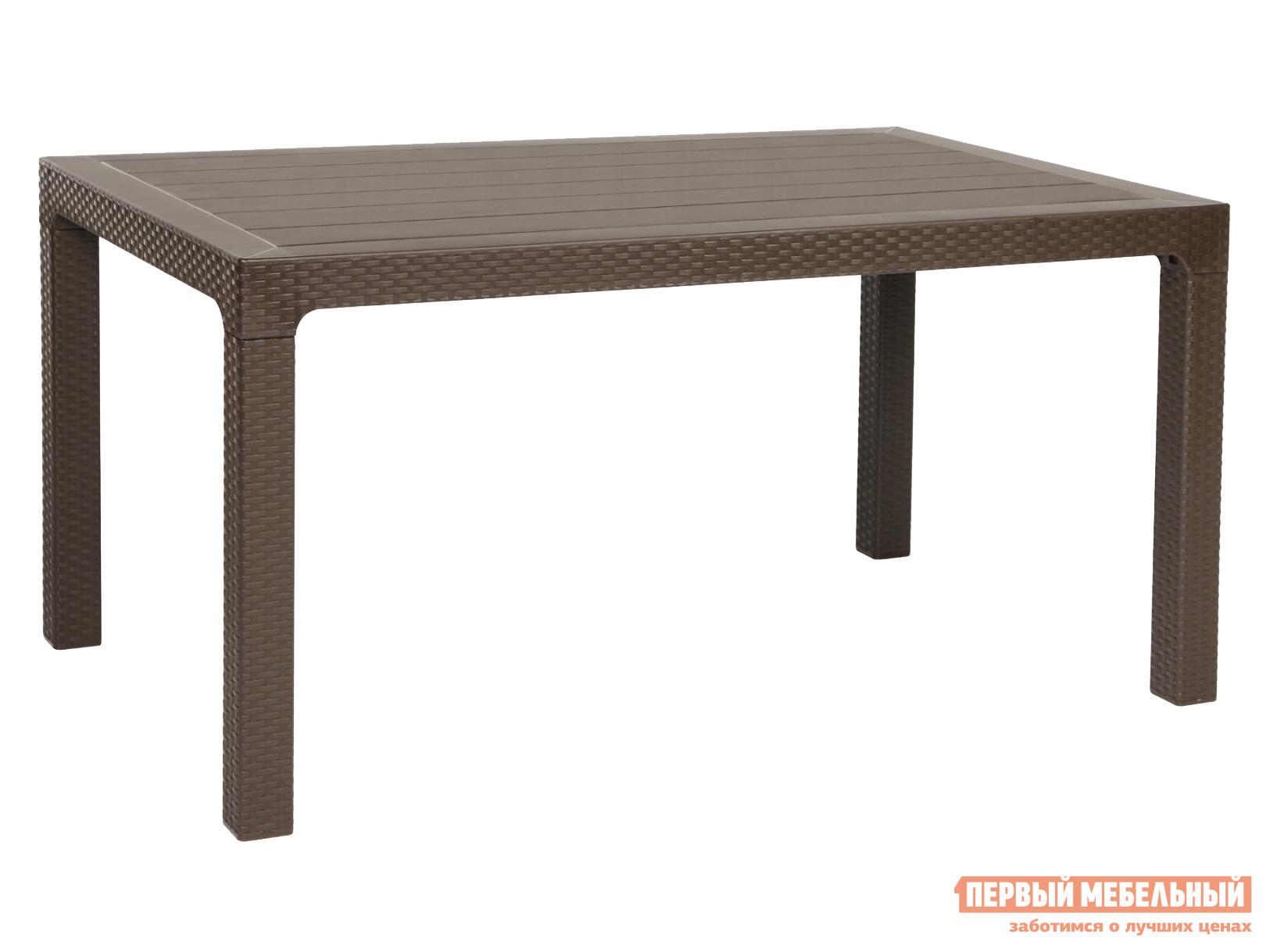 Садовый стол Рихаус Стол пластиковый без стекла DEL/AR-R/90x150/F пластиковый стул рихаус net 4032656000 4032675000