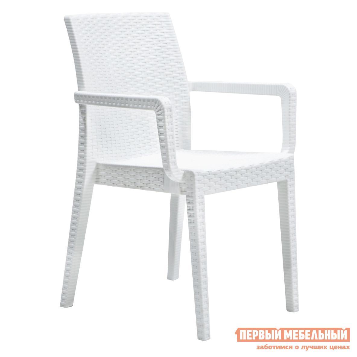 Плетеное кресло Рихаус Кресло пластиковое Siena DEL/SIE-R/ARM/F/WH