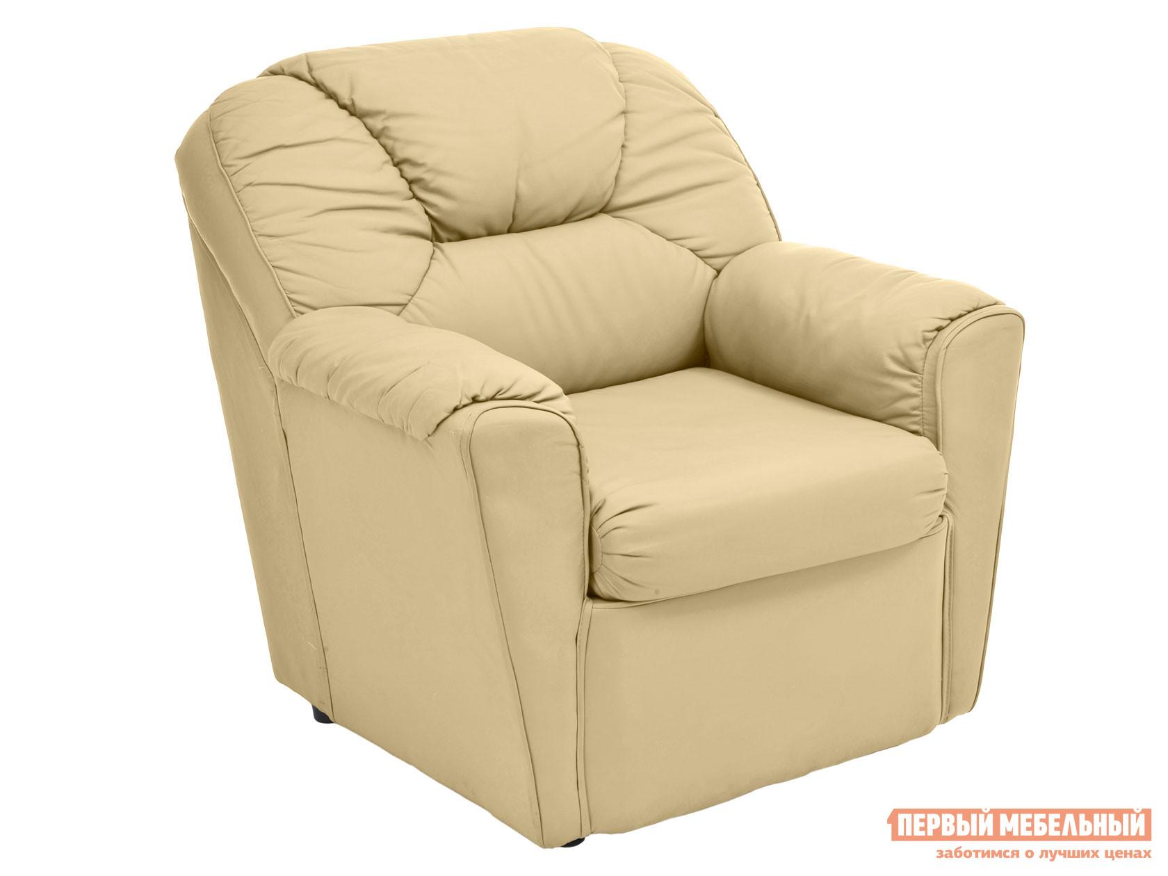 Кресло  Кресло Бизон Кремовый, экокожа — Кресло Бизон Кремовый, экокожа