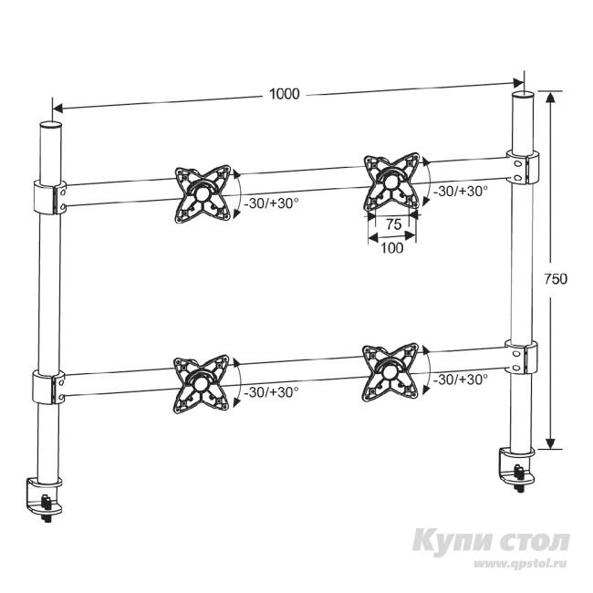 Кронштейн LCD-T4 КупиСтол.Ru 5900.000