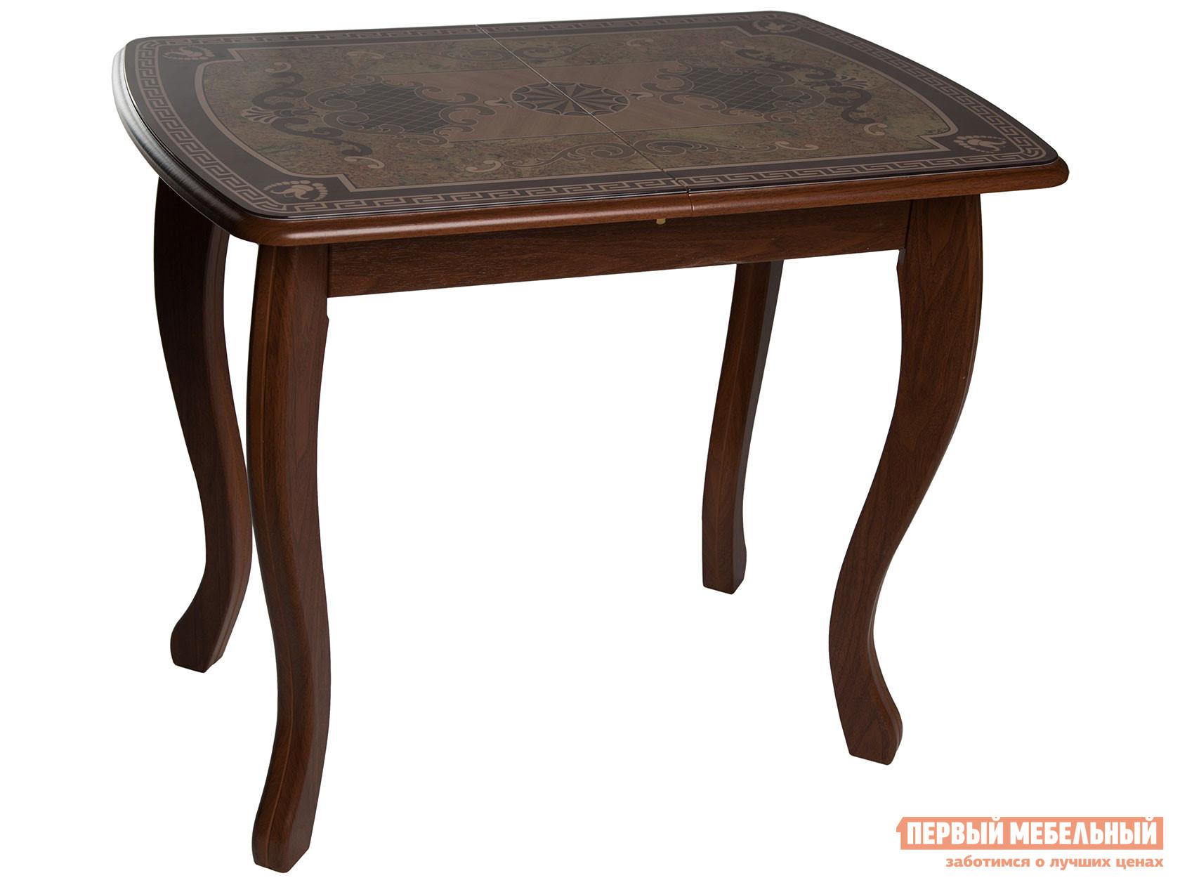 Кухонный стол Линоторг Стол ДП1-02-06 930*630(1230) со стекл. вкл. М58 «Альба-мини» стекло