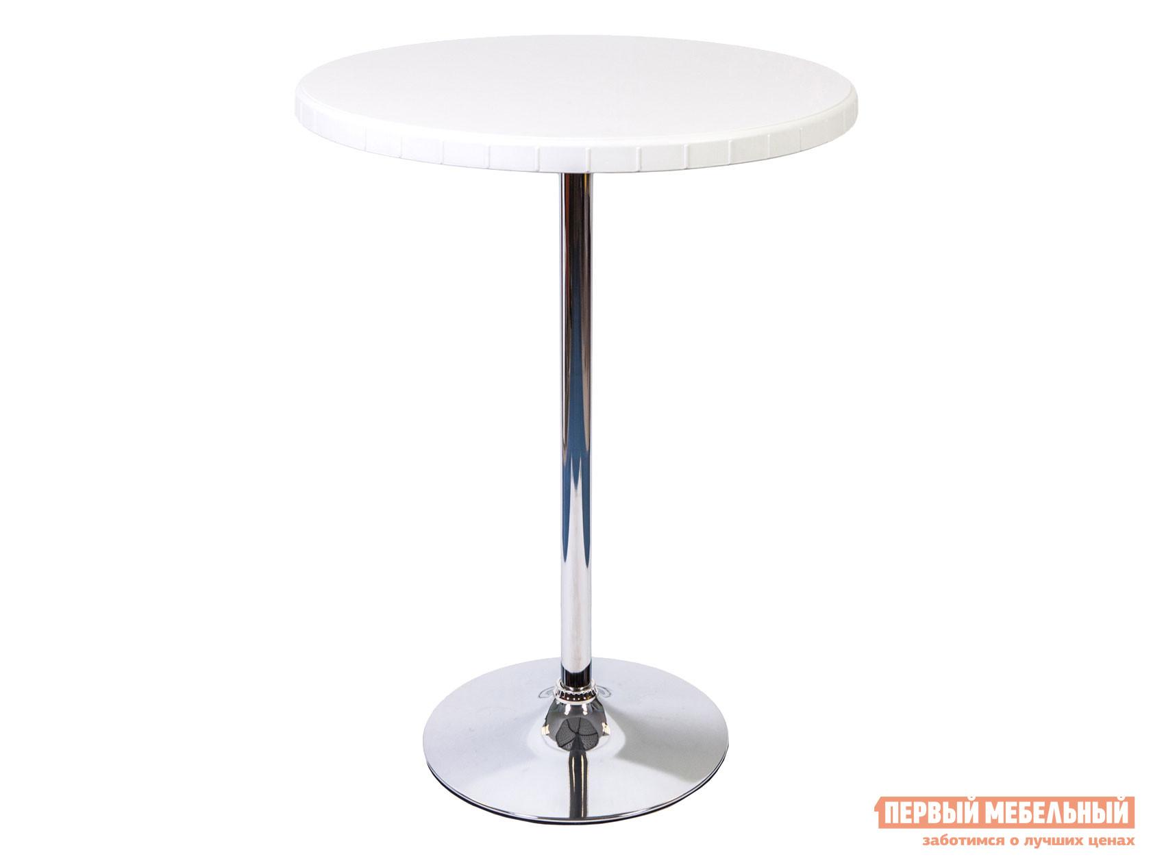 Барный стол  разборный 80/110 Белый / Хром STOOL GROUP 76138