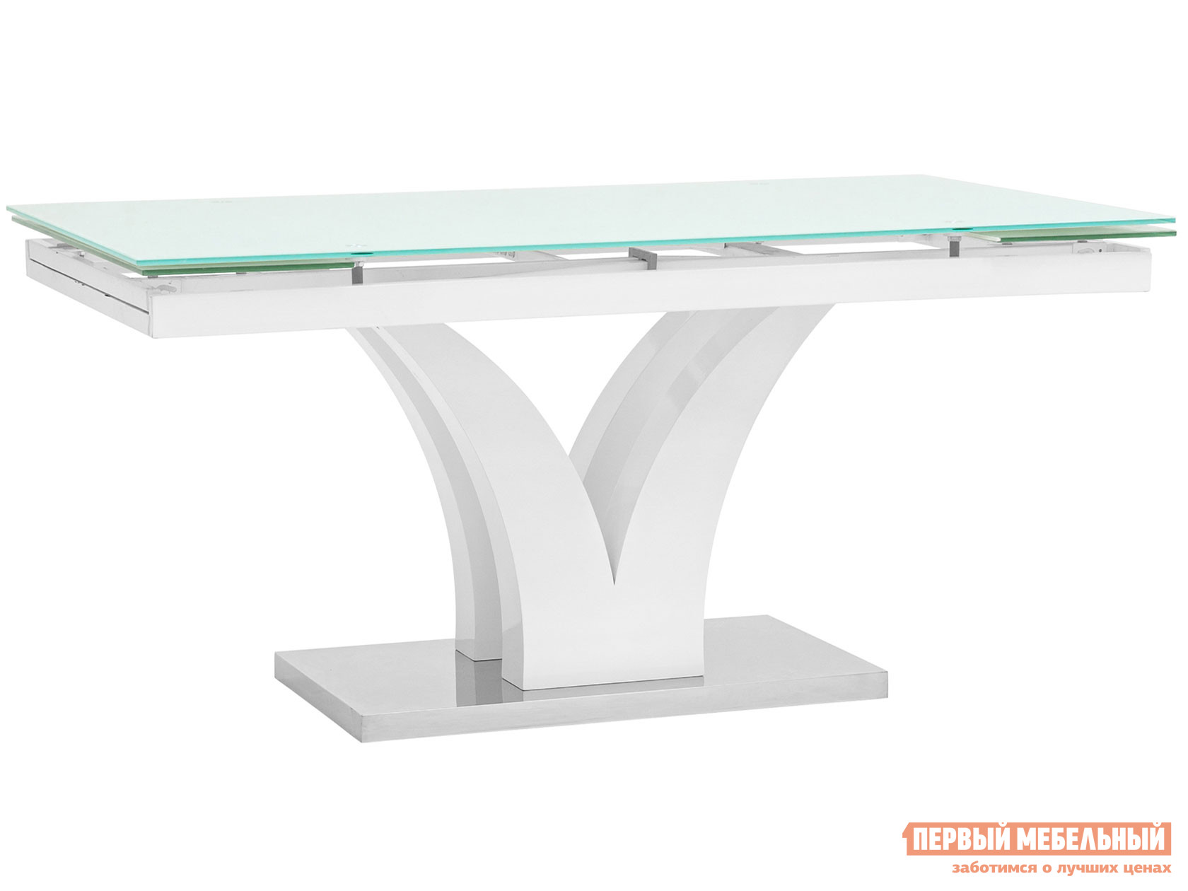 Кухонный стол  обеденный Верона, раскладной DT-43-160-HGW/HGBG DUAL Белый глянцевый STOOL GROUP 111419