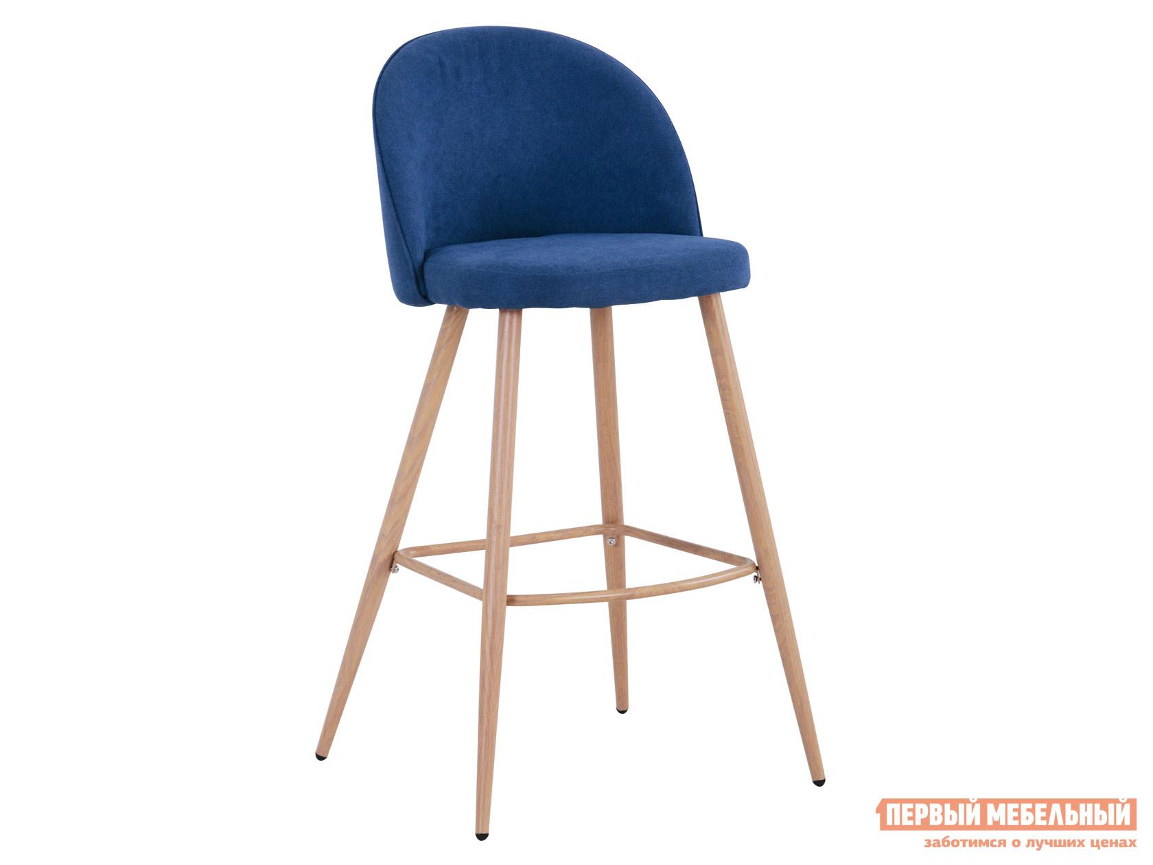 Барный стул  Лион BC-99004 Синий, шенилл / Светлое дерево Stool Group 116266