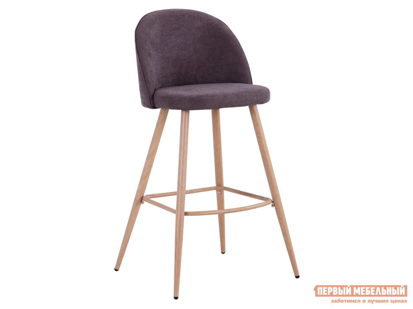 Барный стул  Лион BC-99004 Темно-серый, шенилл / Светлое дерево Stool Group 116267