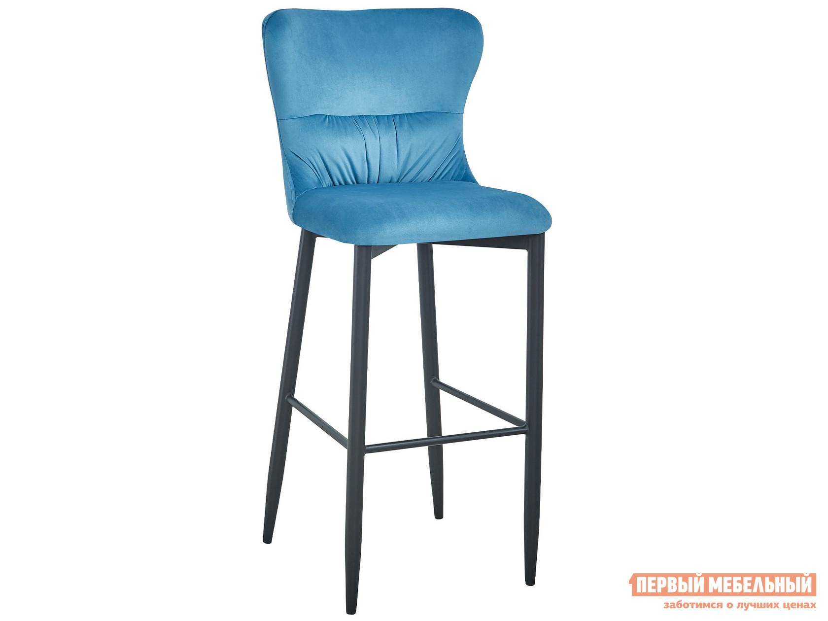 Барный стул  полубарный Лилиан MC151C VELVET HLR-59 Темно-бирюзовый, велюр, Stool Group 105183