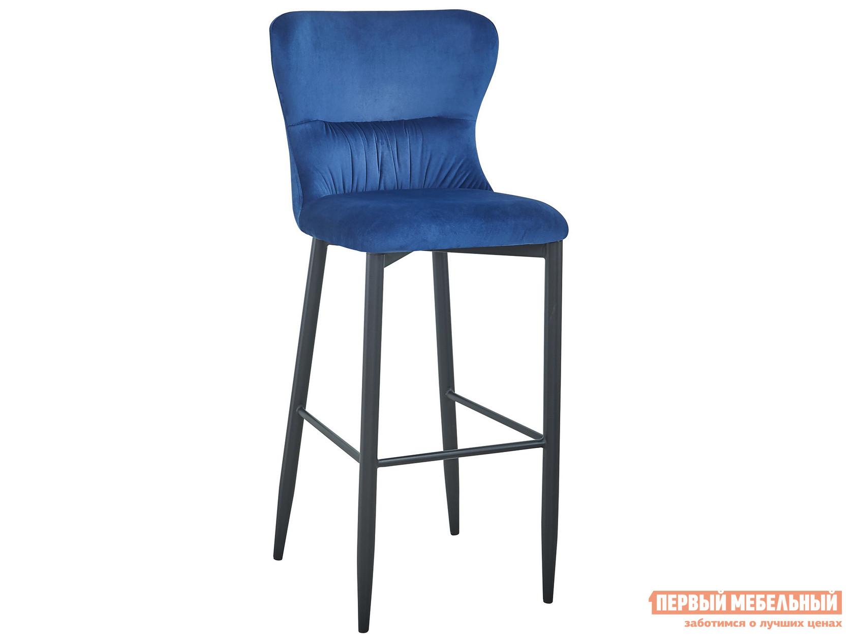 Барный стул  полубарный Лилиан MC151C VELVET HLR-64 Темно-синий, велюр, Stool Group 105184