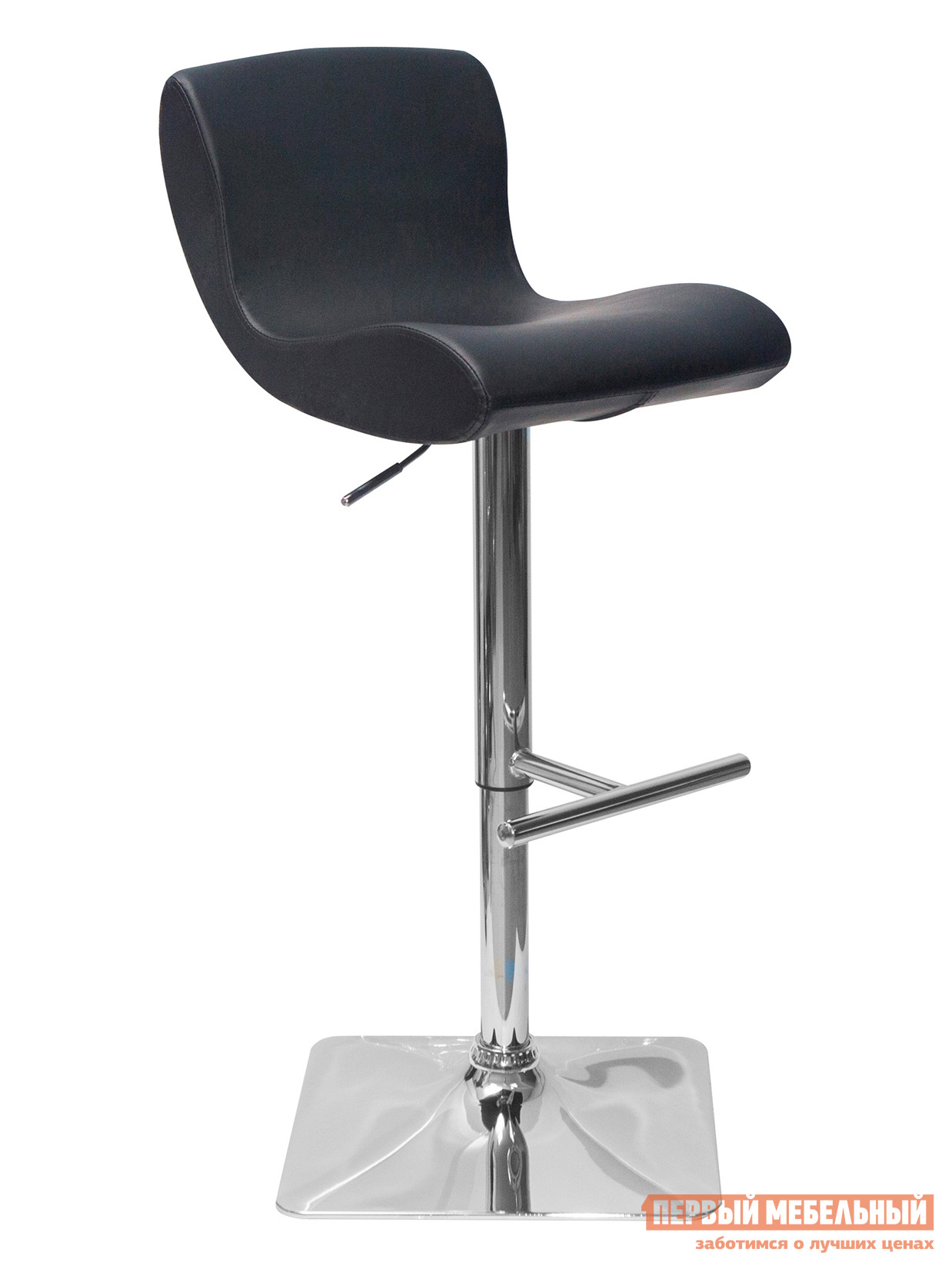 Барный стул STOOL GROUP Стул барный ХАМЕР Черный STOOL GROUP Габаритные размеры ВхШхГ 870 / 1090x430x540 мм. Барный стул Хамер станет изумительной находкой для владельцев ресторана, клуба или уютного домашнего бара. <br>Хромированный стальной каркас оборудован специальной подножкой, что несомненно гарантирует высокий уровень комфортабельности для сидящего. <br> При помощи современного механизма регулировки, вы сможете настроить высоту стула в диапазоне 87-109 см. <br>Расстояние от пола до сиденья — от 63 до 84 см. <br>Обивка сиденья произведена из качественной экокожи, благодаря чему является износостойкой и не требует специального ухода. <br>Цвет исполнения представлен двумя классическими вариантами: черный и белый.  Такое решение позволит сочетать Хамер с совершенно любым интерьером. <br>