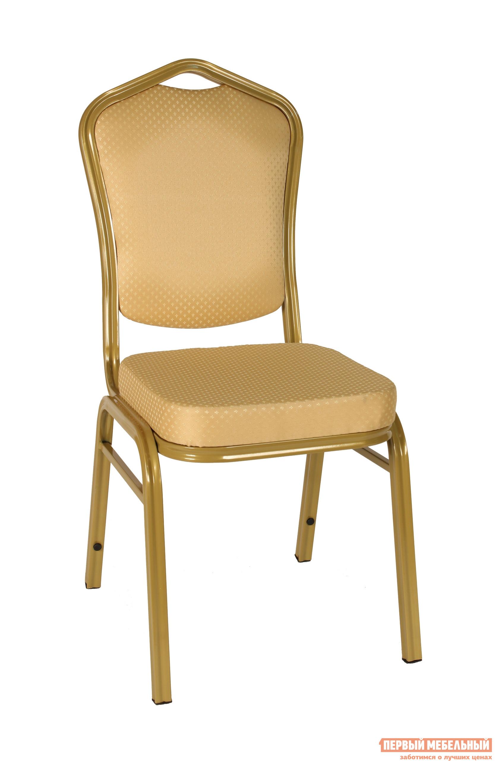 Кухонный стул STOOL GROUP Квадро Каркас золото / Обивка бежевая (узор короны) от Купистол