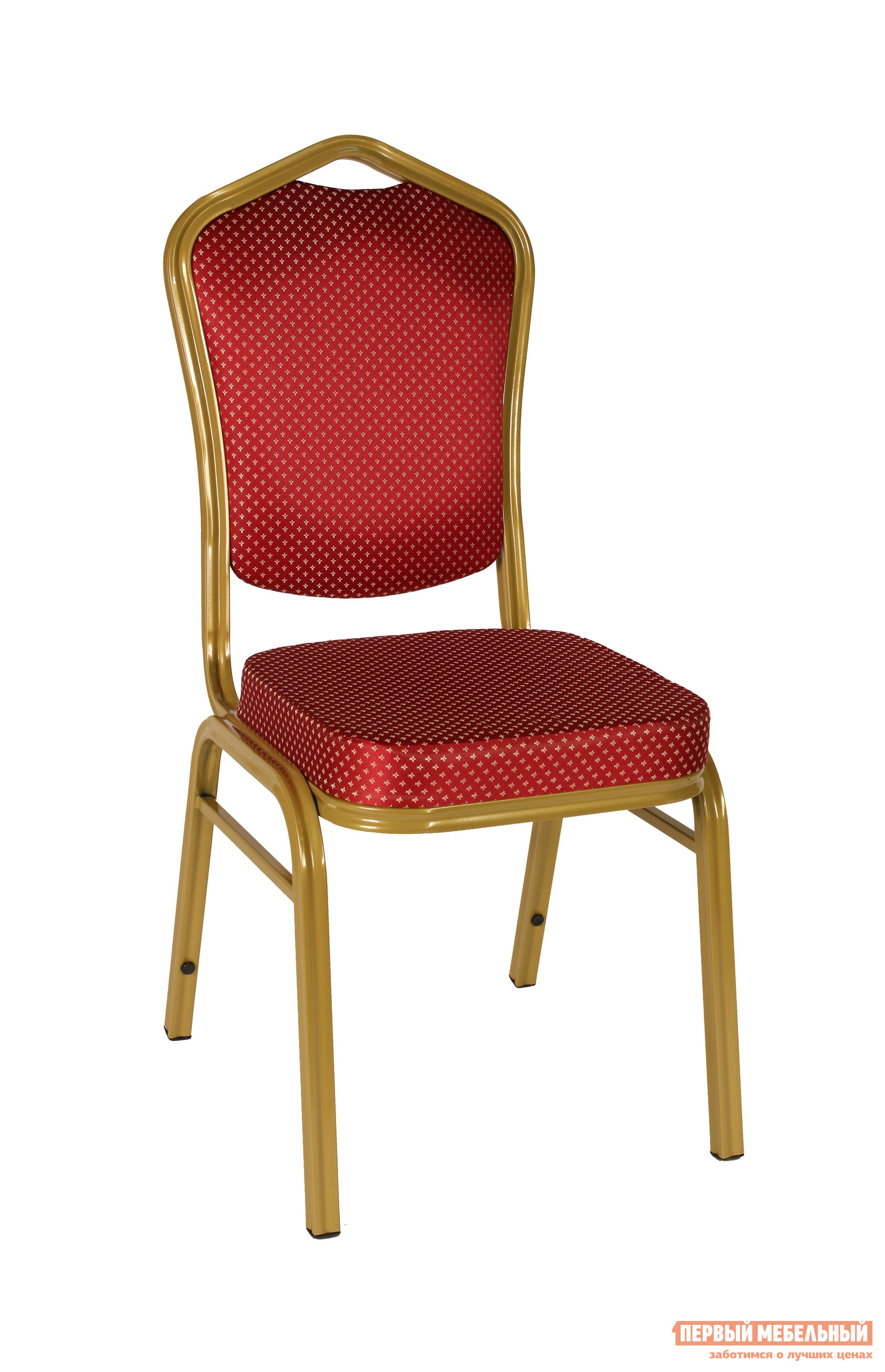 Кухонный стул STOOL GROUP Квадро Каркас золото / Обивка красная (узор короны) от Купистол