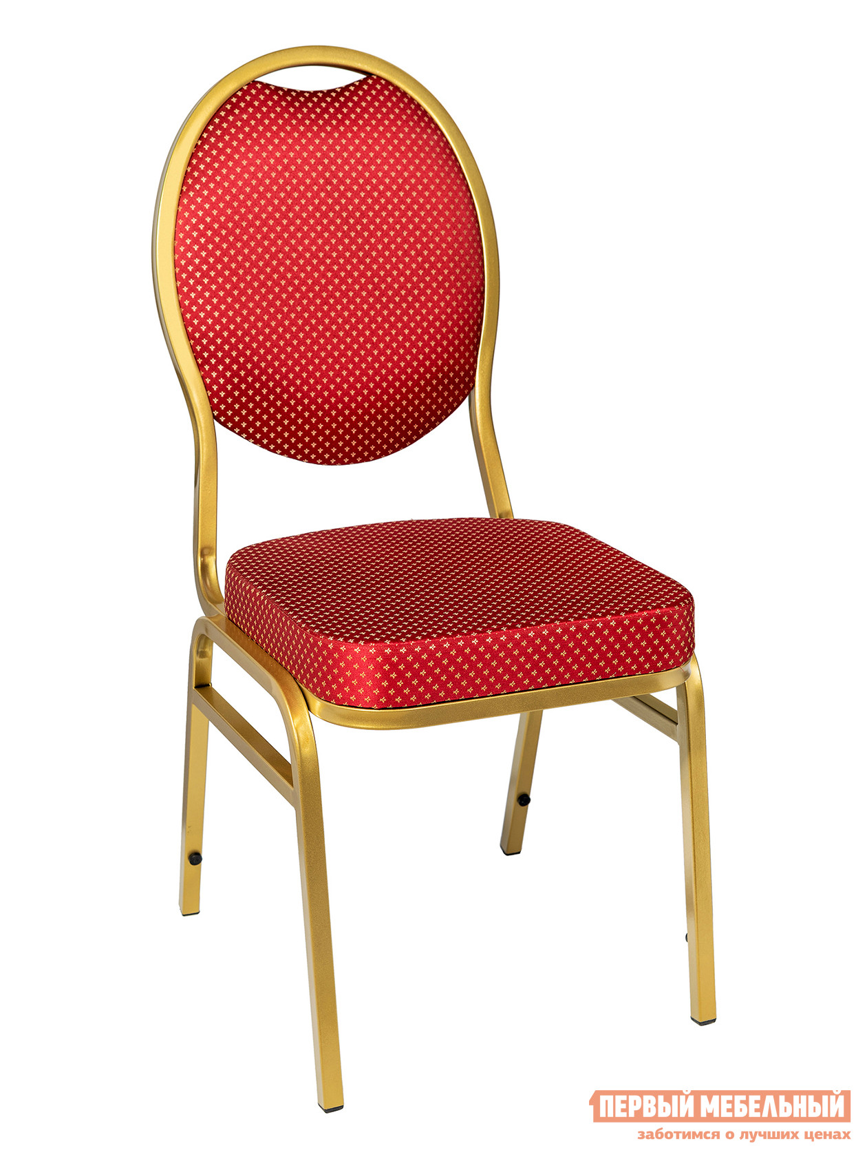 Кухонный стул STOOL GROUP Квин Каркас золото / Обивка красная (узор короны) от Купистол