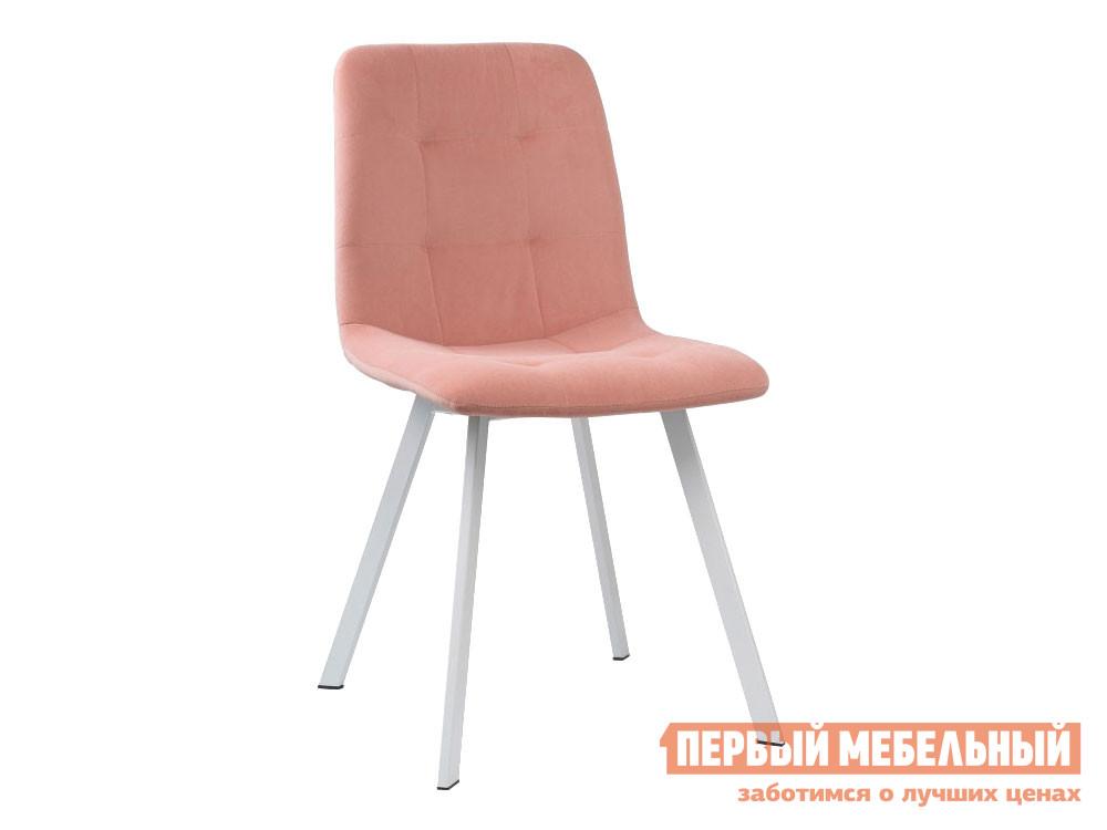 Стул  Bruk Розовый, велюр / Белый, металл