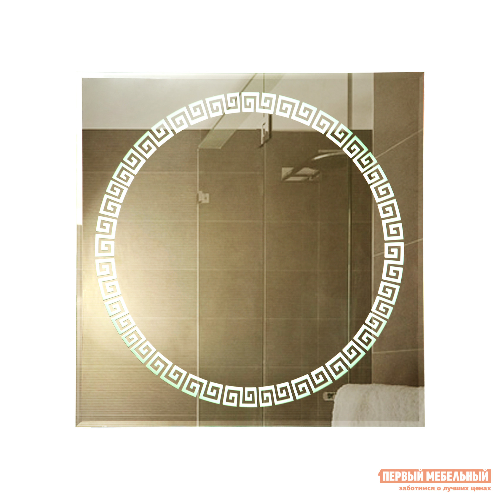 Фото Настенное зеркало Континент Византия Люкс 700х700х35