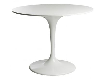 Обеденный стол Eero Saarinen Style Tulip Table MDF белый Эро Тулип