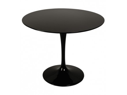Обеденный стол Eero Saarinen Style Tulip Table MDF черный D90 Эро Тулип 90