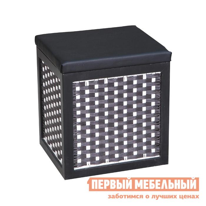 Пуфик Ariva ARIVA-025 (51738) ЧерныйПуфики<br>Габаритные размеры ВхШхГ 440x400x360 мм. Практичная банкетка поможет сделает ваш интерьер более комфортным.  Помимо дополнительного места для сидения, вы сможете использовать изделие как ящик для хранения.  Под съемной крышкой находится вместительная ниша. Максимальная нагрузка составляет 100 кг. Каркас банкетки выполнен из павловнии.  Обивка сиденья изготовлена из полиэстера, корзина представляет собой плетение из бумажного жгута.<br><br>Цвет: Черный<br>Высота мм: 440<br>Ширина мм: 400<br>Глубина мм: 360<br>Кол-во упаковок: 1<br>Форма поставки: В разобранном виде<br>Срок гарантии: 1 год<br>Тип: Плетеная<br>Тип: Тумба<br>Назначение: Для кухни<br>Назначение: Для спальни<br>Назначение: В прихожую<br>Назначение: Для офиса<br>Назначение: Для гостиной<br>Материал: Дерево<br>Материал: Искусственная кожа<br>Материал: Натуральное дерево<br>Порода дерева: Павловния<br>Форма: Прямоугольные<br>Размер: Маленькие<br>Размер: Узкие<br>Размер: Одноместные<br>Высота: Низкие<br>С ящиками: Да<br>С мягким сиденьем: Да<br>С крышкой: Да<br>Без спинки: Да<br>Стиль: Прованс