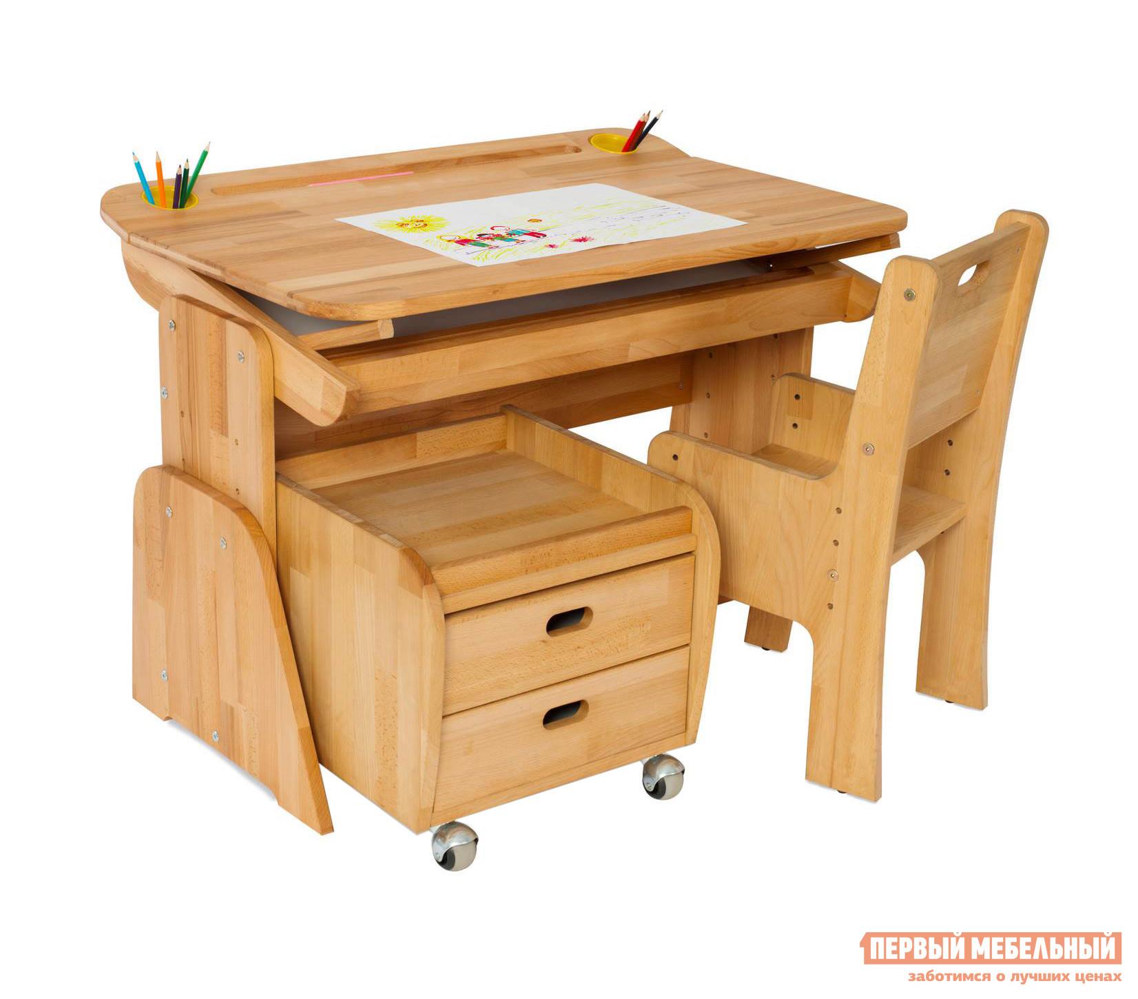 Парта со стулом и тумбой Партаторг С490+С100+С330