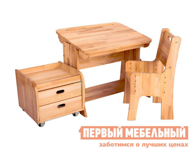 Парта со стулом и тумбой Партаторг С470+С330+С100