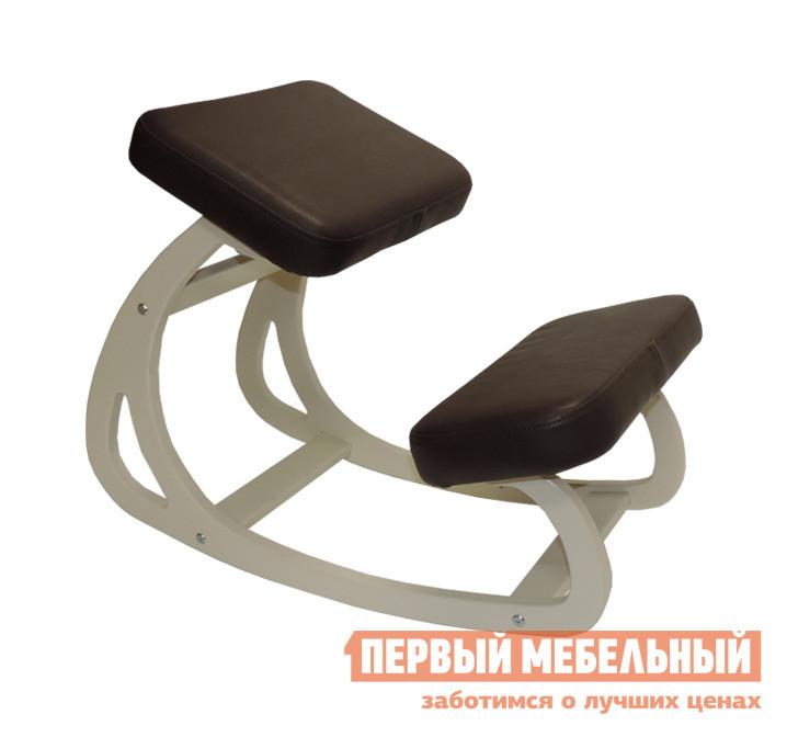 Детский стул  Балансирующий коленный стул Айвори / Коричневая экокожа