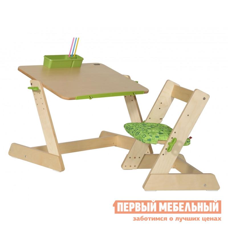 Парта Партаторг Комплект Стол деревянный Q-momo и стул MINIMO (2 места) (TD2101S+TC3008S)  jetboil minimo carbon