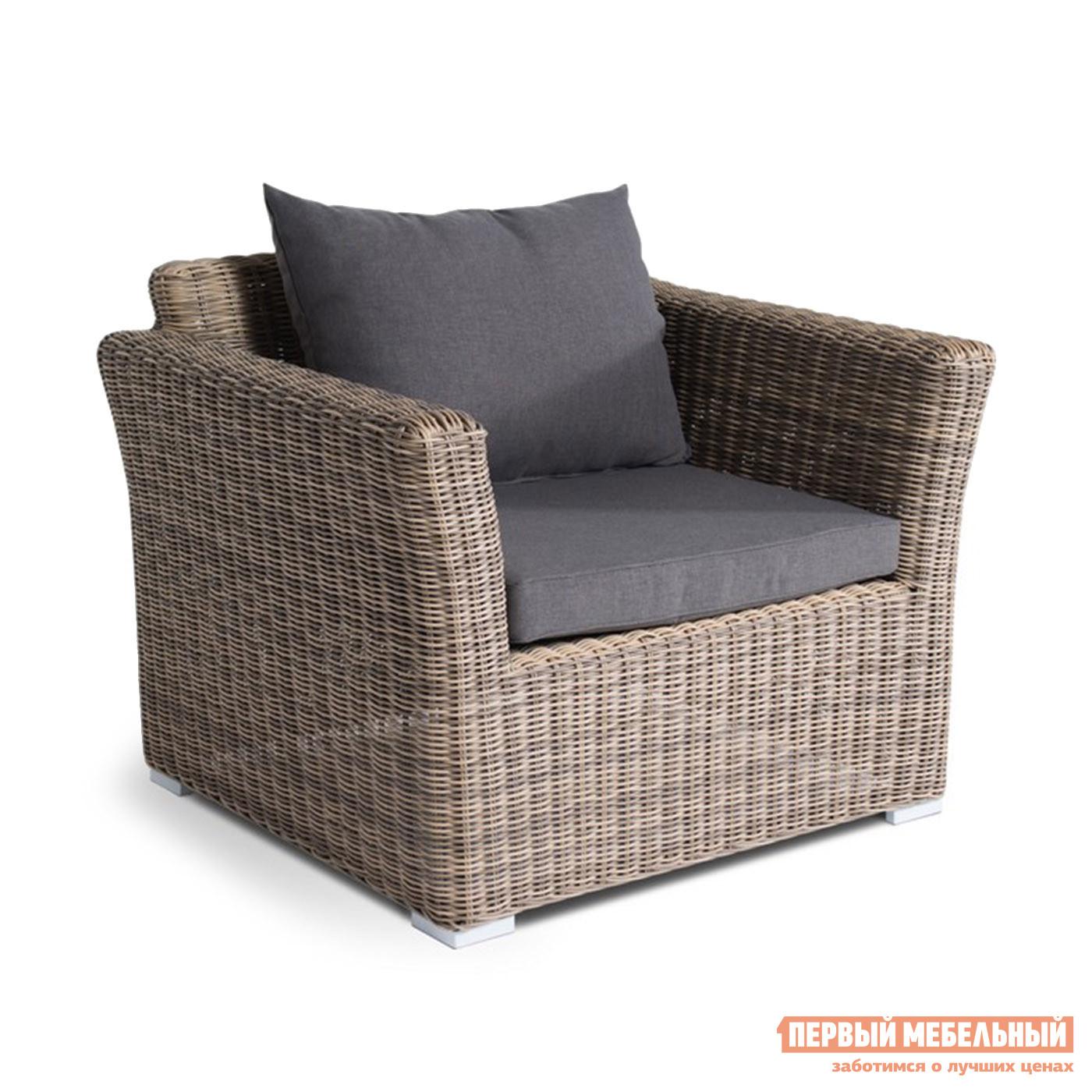Плетеное кресло с мягким сиденьем Кватросис YH-C1130W-3