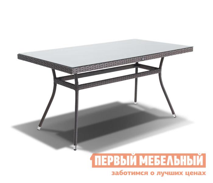 Плетеный стол со стеклянной столешницей Кватросис Торре YH-T4766G плетеный стол кватросис бергамо yh s4684p 2