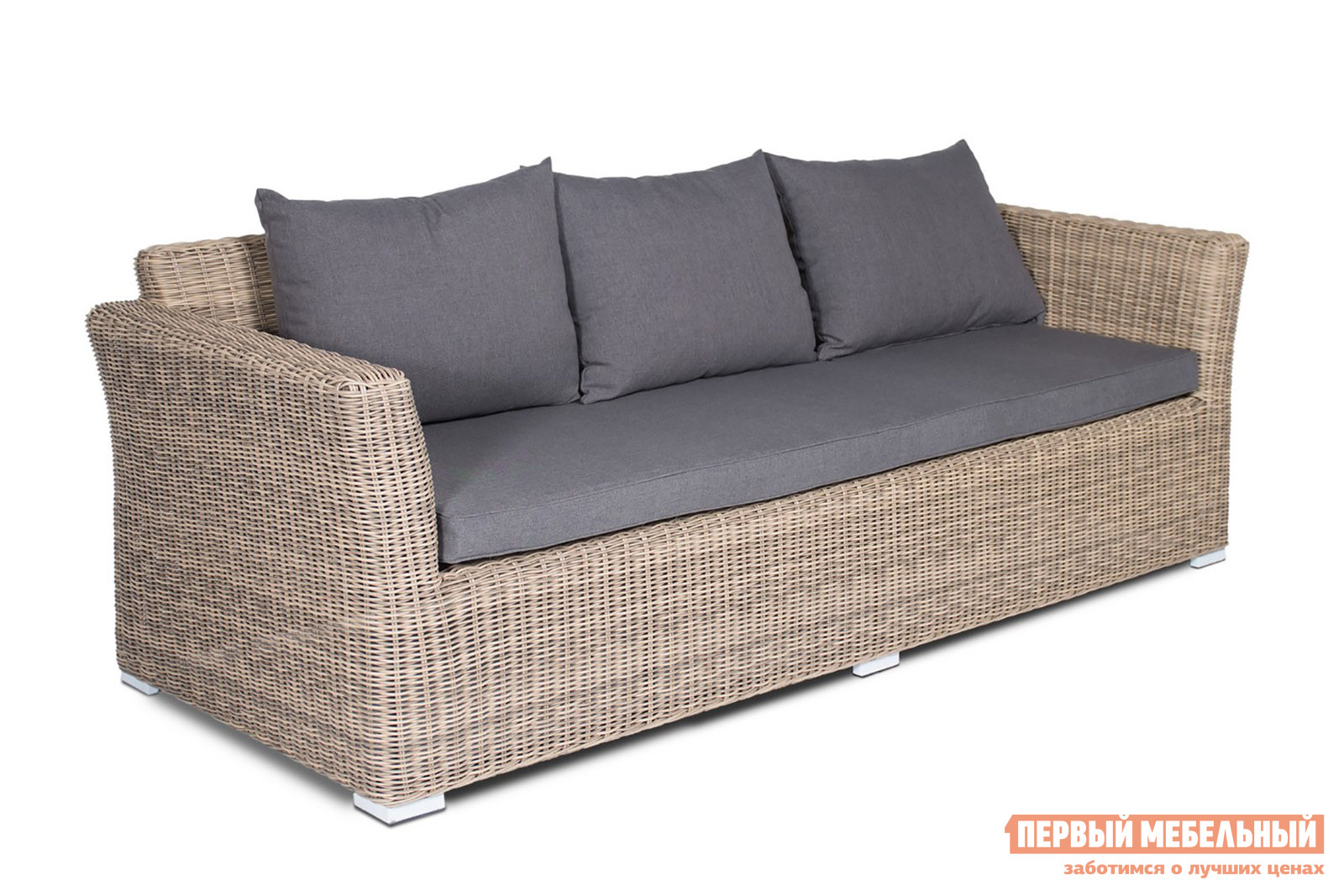 Плетеный диван Кватросис YH-C3130W-3 плетеный стол кватросис бергамо yh s4684p 2
