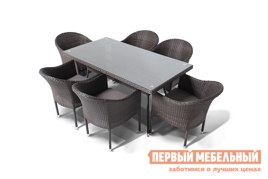 Комплект плетеной мебели Кватросис Фраппе, обеденная группа комплект плетеной мебели kvimol км 1302