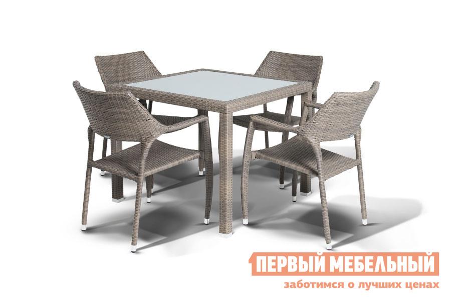 Комплект плетеной мебели Кватросис Сардиния, обеденная группа футболка element j to h ss f off white