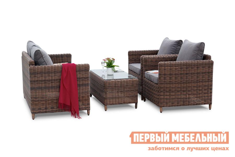 Комплект плетеной мебели Кватросис Макиато YH-C2004W-1, YH-C1019W-1, YH-S4517W-1 комплект мягкой мебели мираж 3 1 1