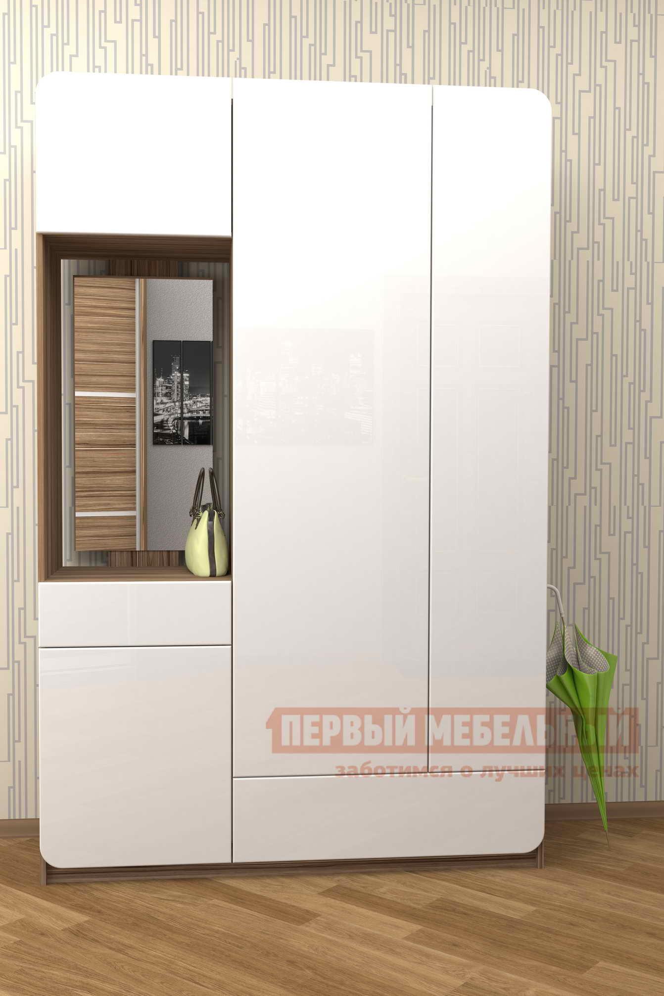 Прихожая в коридор Мебелеф Прихожая «Мебелеф-15» шкаф витрина любимый дом лд 270420 251 630 левый