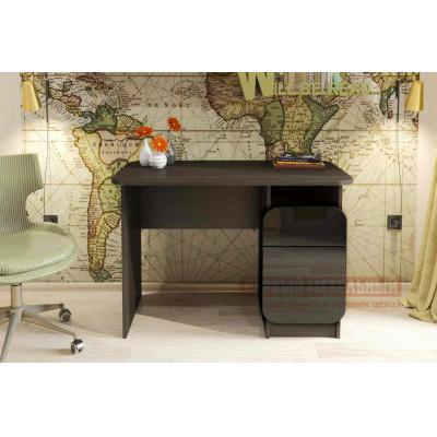 Письменный стол Мебелеф Письменный стол «Мебелеф-8» Венге, Чёрный глянец 2905, Левый