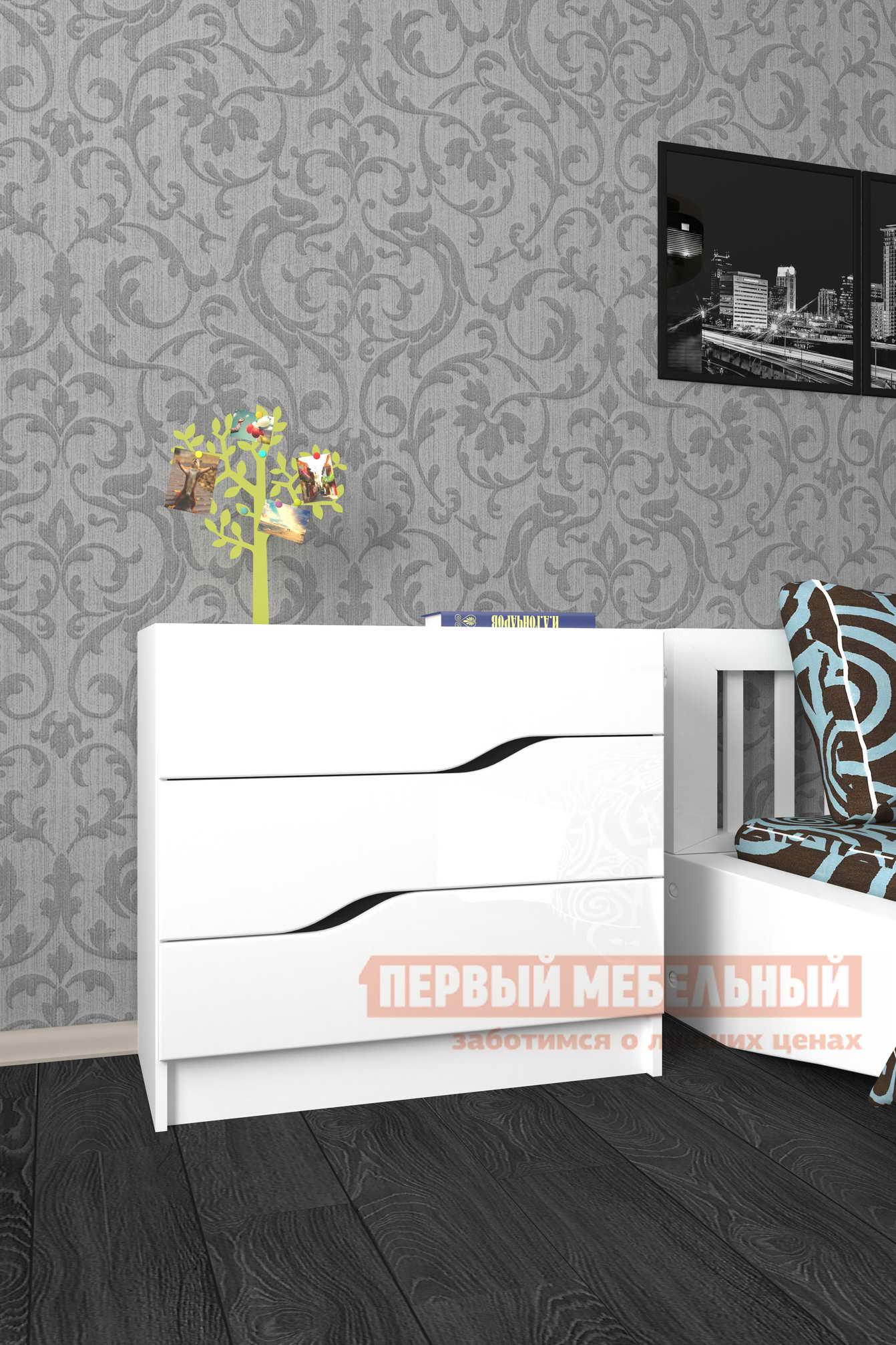 Комод  Комод «Мебелеф-48» Белый / Белоснежный глянец 8888