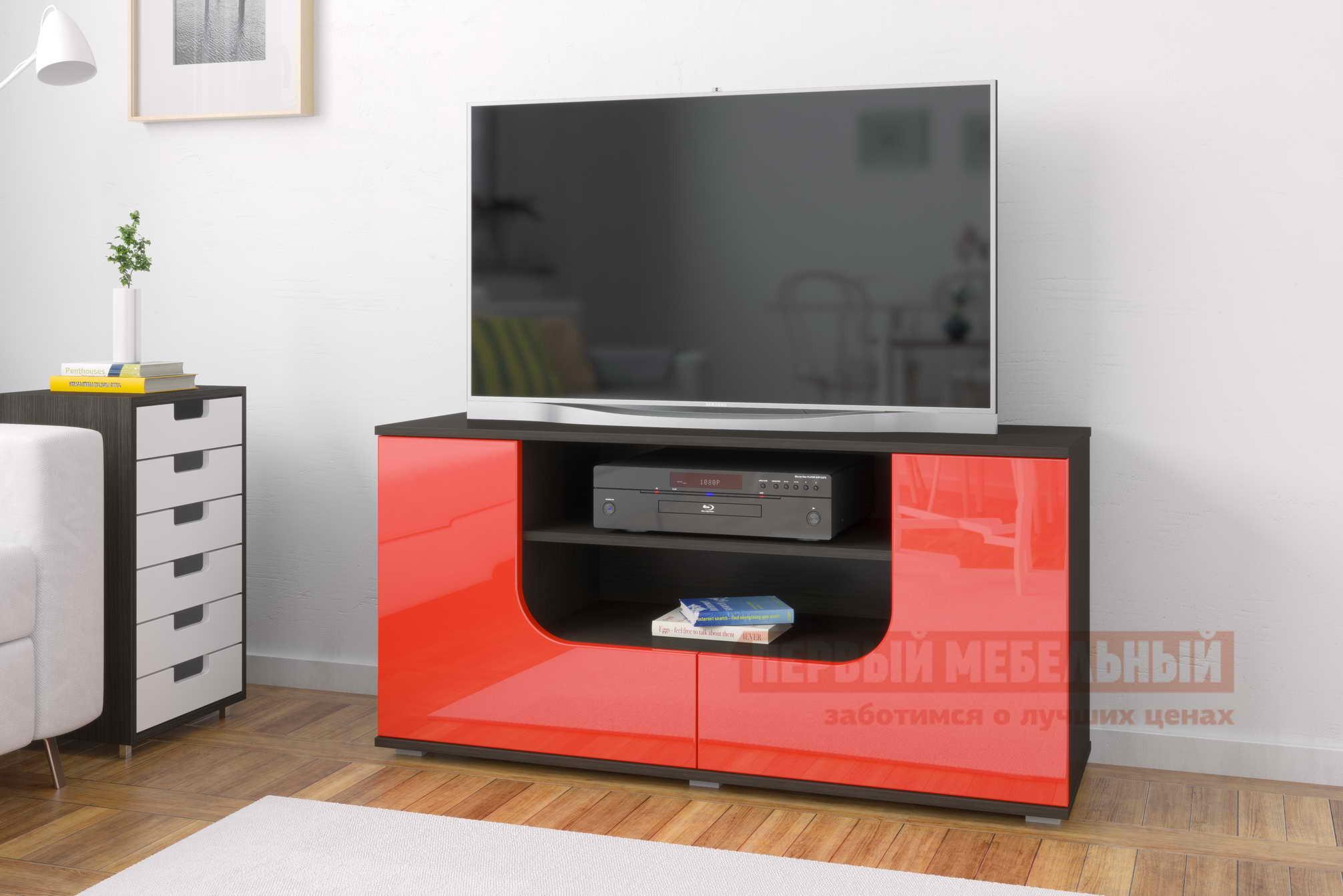 ТВ-тумба Мебелеф Тумба под ТВ «Мебелеф-4» Венге, Красный глянец 2951