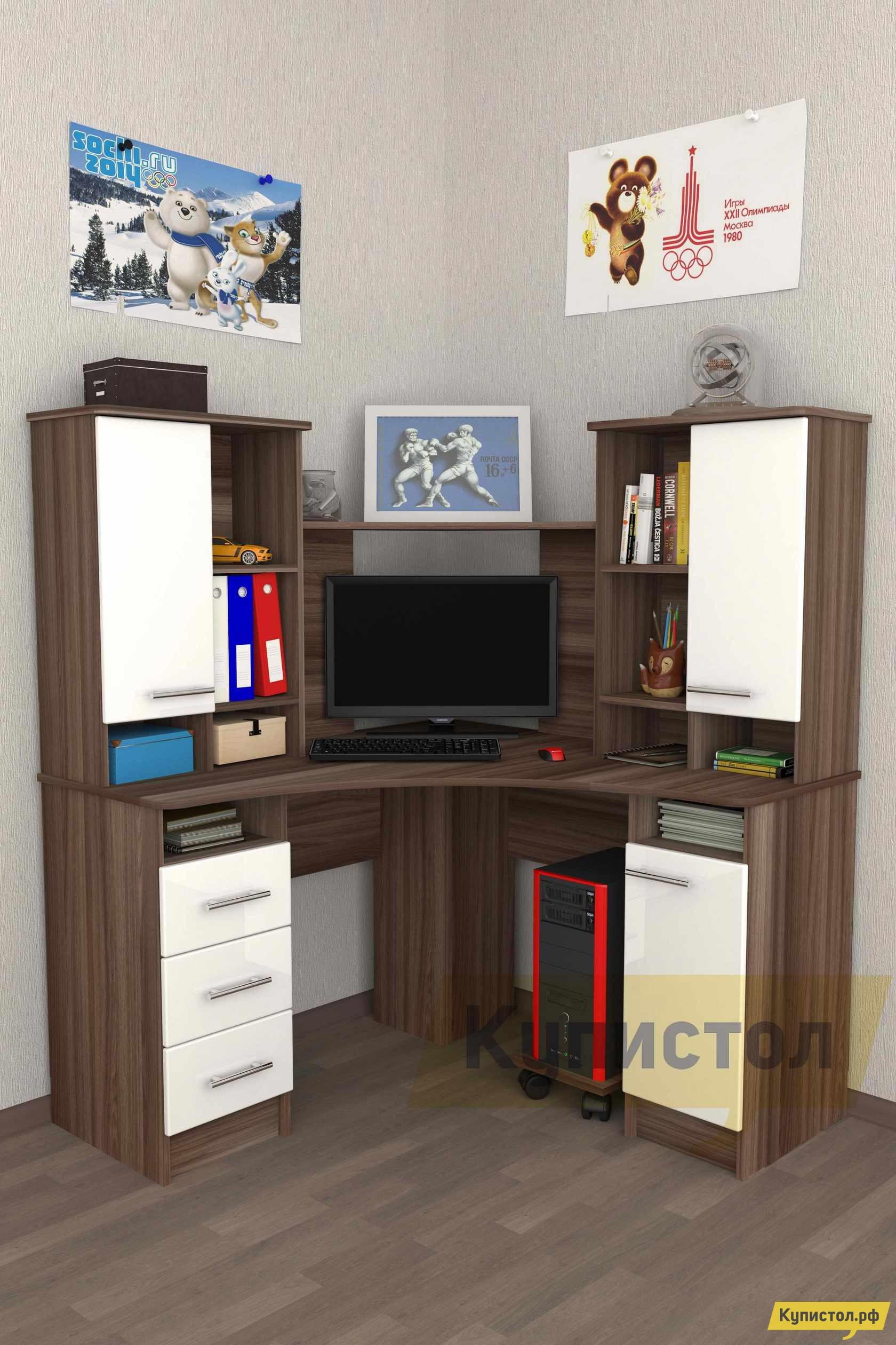 Угловой компьютерный стол Мебелеф Компьютерный стол «Мебелеф-41» компьютерный стол кс 20 30