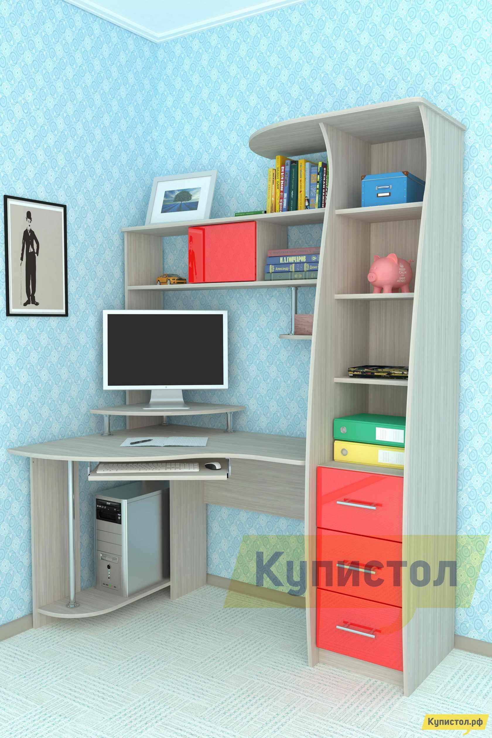 Угловой компьютерный стол Мебелеф Компьютерный стол «Мебелеф-21»