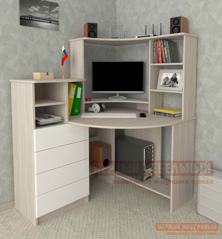 Угловой компьютерный стол Мебелеф Компьютерный стол «Мебелеф-44» компьютерный стол мебелеф мебелеф 18